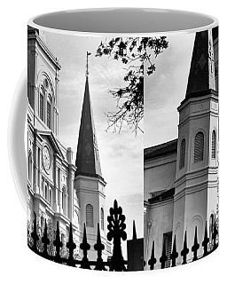 Grayscale St. Louis Cathedral Coffee Mug