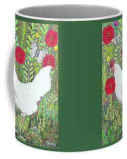 Chicken With Millefleurs And Butterflies  Coffee Mug