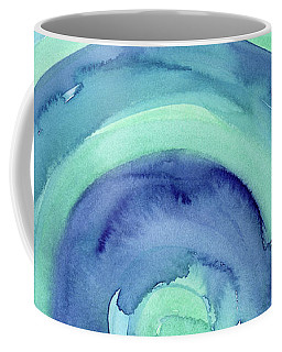 Abstract Watercolor Aqua Blues Coffee Mug