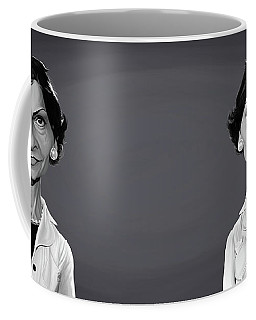 Coffee Mug featuring the digital art Celebrity Sunday - Coco Chanel by Rob Snow