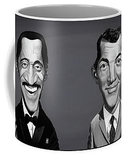 Coffee Mug featuring the digital art Celebrity Sunday - Sammy Davis Jnr And Dean Martin by Rob Snow