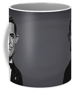 Coffee Mug featuring the digital art Celebrity Sunday - Cary Grant by Rob Snow