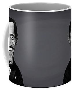 Coffee Mug featuring the digital art Celebrity Sunday - Sammy Davis Jnr by Rob Snow