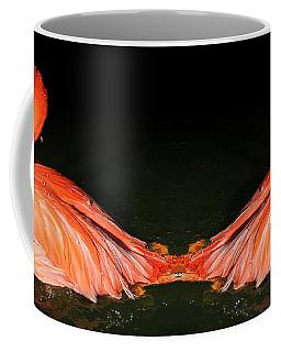Spotlight On A Bathing Flamingo Coffee Mug
