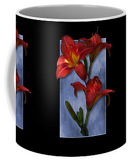 Portrait Of Red Lily Flowers Coffee Mug