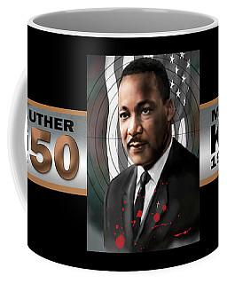Coffee Mug featuring the digital art Mlk50 by Dwayne Glapion