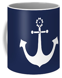 Anchor With Knot Border In White Coffee Mug
