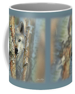 White Wolf Focused Coffee Mug