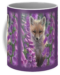 Red Fox Pup - Foxgloves Coffee Mug