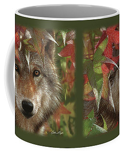 Wolf - Autumn Encounter Coffee Mug
