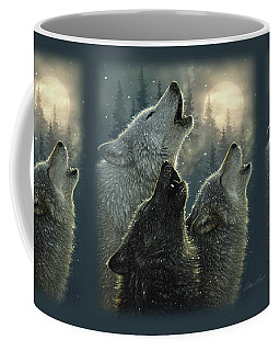 Wolves Howling Moon - In Harmony Coffee Mug