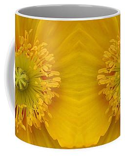 Yellow Poppy Flower Center Coffee Mug