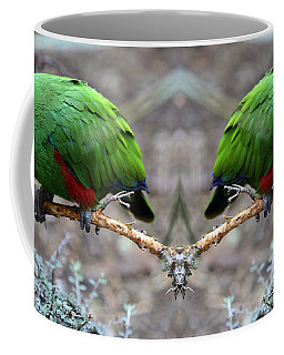Green Male Eclectus Parrot Coffee Mug