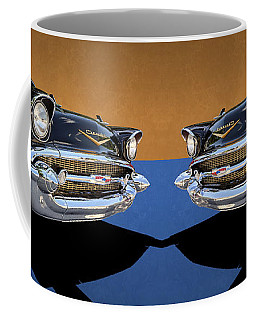 Classic Black Chevy Bel Air With Gold Trim Coffee Mug