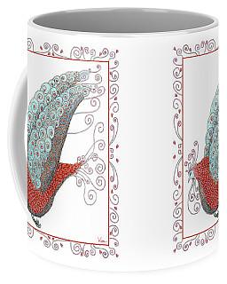 Simon Lovey The Exotic Bird With Border Coffee Mug