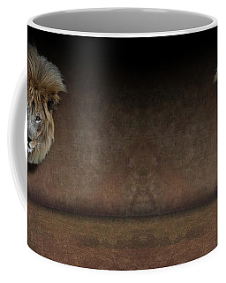 Was That My Cue? - Lion On Stage Coffee Mug