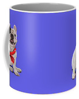 Coffee Mug featuring the digital art Frenchie Colour by Rob Snow