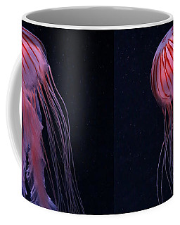Coffee Mug featuring the photograph Strawberry Pink Jellyfish - Extra Tall by Debi Dalio