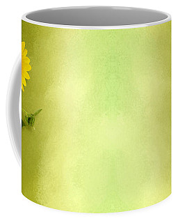 Single Long Stem Sunflower Coffee Mug