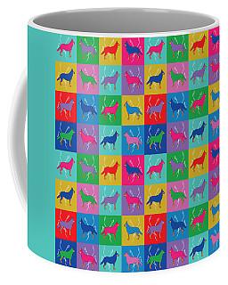 Pop Art German Shepherd Dogs Coffee Mug
