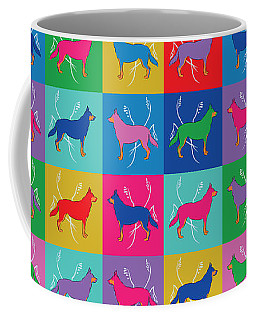 Pop Art German Shepherd Dogs Coffee Mug