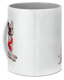 Coffee Mug featuring the digital art Frenchie Wordless by Rob Snow