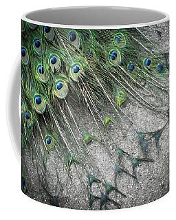 Poised Peacock Coffee Mug