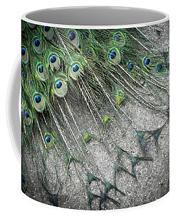 Poised Peacock Coffee Mug
