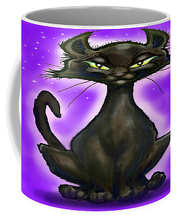 Coffee Mug featuring the painting Black Cat by Kevin Middleton
