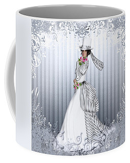 Coffee Mug featuring the digital art Victorian Rose by Shanina Conway