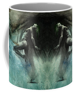 Coffee Mug featuring the drawing Fount I - Textured by Paul Davenport