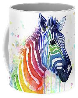 Rainbow Zebra - Ode To Fruit Stripes Coffee Mug
