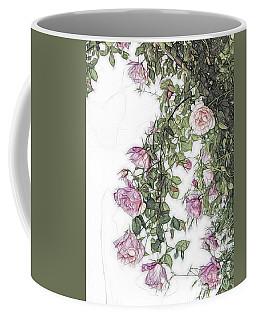 Arty Hanging Roses Coffee Mug