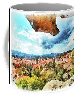 Arzachena Landscape With Rock Snd Clouds Coffee Mug
