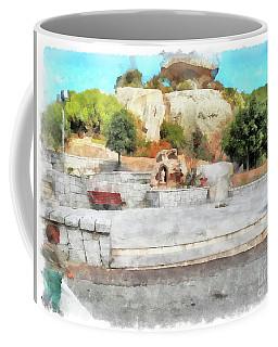 Arzachena Mushroom Rock With Children Coffee Mug
