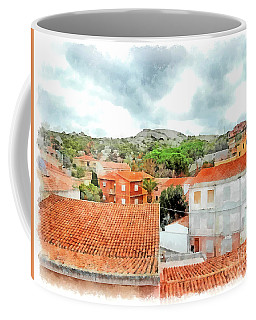 Arzachena Urban Landscape With Mountain Coffee Mug