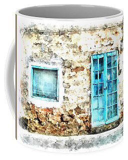 Arzachena Window And Blue Door Store Coffee Mug