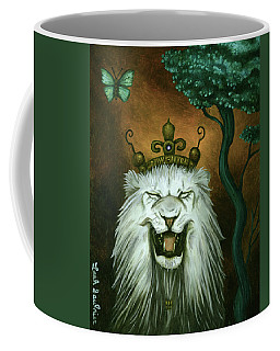 As The Lion Laughs Coffee Mug by Leah Saulnier The Painting Maniac