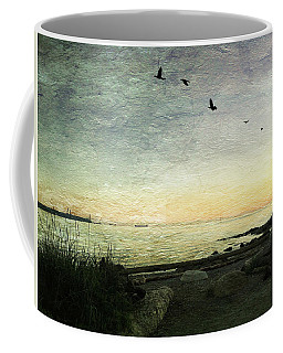Coffee Mug featuring the photograph As The Sky Darkens  by Connie Handscomb