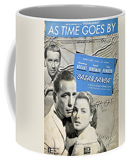 As Time Goes By Sheet Music Coffee Mug by Barbie Corbett-Newmin