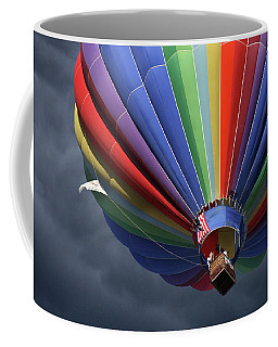 Coffee Mug featuring the photograph Ascending To The Storm by Marie Leslie