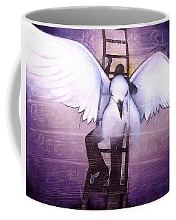 Coffee Mug featuring the painting Ascension by Christopher Marion Thomas