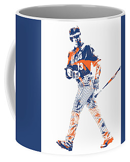 Asdrubal Cabrera New York Mets Pixel Art 1 Coffee Mug
