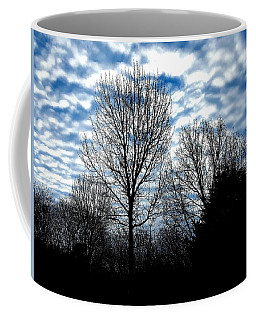 Ash Trees Against A Mackerel Sky Coffee Mug