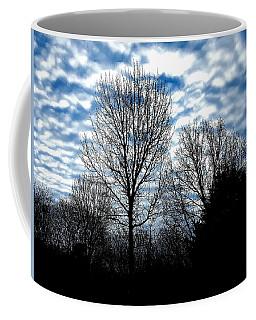 Ash Trees Against A Mackerel Sky Coffee Mug