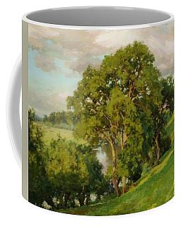 Ash Trees At Cropthorne Worcestershire Coffee Mug