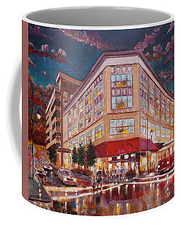 Asheville Cityscape At Battery Park Haywood Park Hotel Coffee Mug