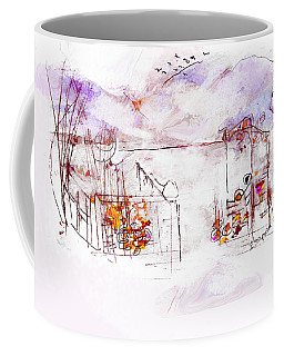 Asheville Mountains Old Friends And A Garden Bench   Coffee Mug