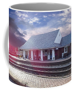 Coffee Mug featuring the photograph Ashland Train Station by Melissa Messick