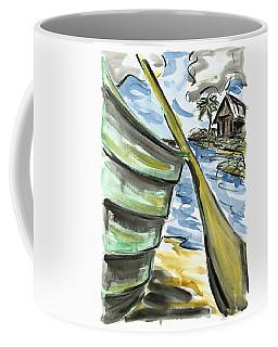 Coffee Mug featuring the painting Ashore by Robert Joyner